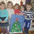 Мастер-класс «Коллективная работа с детьми «Елочка»