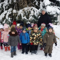 Фотоотчет о зимней прогулке в детском саду