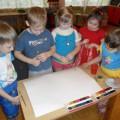 Коллективная работа детей старшей группы по теме «Космос»