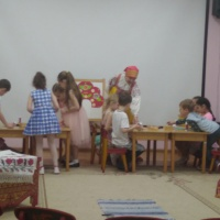 Аппликация русская народная одежда
