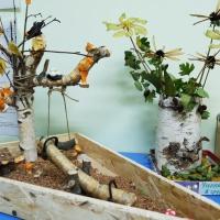 Фотоотчёт о выставке поделок из природного материала «Фантазии осени» в старшей группе