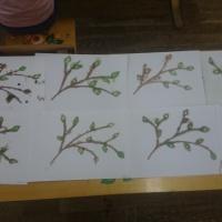 Мастер-класс по нетрадиционной технике рисования солью «Ветви березы»