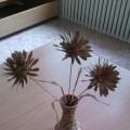 Мастер-класс по изготовлению поделки из природного материала «Хризантемы»