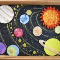 Дидактическое панно из флиса «Солнечная система»