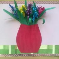 Мастер-класс открытки «Букетик для любимой мамочки»