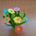 Мастер-класс «Букет цветов для мамы»