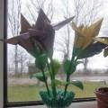 «Длинноногий ирис» Конструирование из бумаги в нетрадиционной техники оригами. Мастер-класс