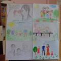 Фотоотчет о выставке детских рисунков «Я и моя семья»