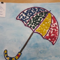 Мастер-класс по пластилинографии «Веселый зонтик»