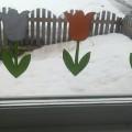 Оформление окон «Тюльпаны»