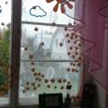 Мастер-класс «Оформление окна в группе «Красавица Осень»