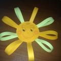 Поделка из цветной бумаги «Солнышко»