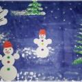 Конспект занятия по рисованию «Веселые снеговички» (старшая группа)