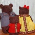 Куклы своими руками для настольного театра «Три медведя»