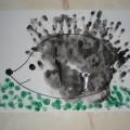 Мастер-класс по нетрадиционной технике рисования для детей младшего дошкольного возраста «Ёжик»