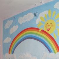 Оформление детского сада. Оформление приёмной группы «Солнышко»