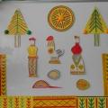 Плоскостной театр филимоновской игрушки «Курочка Ряба»