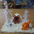 Мастер-класс: изготовление макета в рамках реализации проекта «Дикие животные в зимнем лесу»