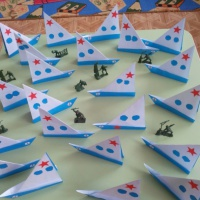 Мастер-класс по оригами «Подарок для папы «Кораблик»