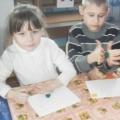 Фотоотчет о коллективной творческой работе с детьми дошкольного возраста «Рыбки в аквариуме»
