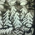 Конспект занятия по рисованию песком «Сказочный зимний лес»