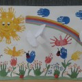 Фотоотчет о выставке детских поделок «Дети России за мир!»