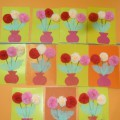 Аппликация из салфеток «Цветы для любимой мамы»