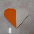 Мастер-класс по оригами «Двухцветное сердечко из бумаги»