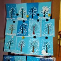 Конспект занятия по рисованию «Вот зима— кругом бело» (вторая младшая группа)