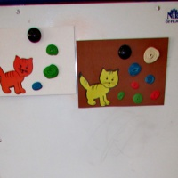 Конспект занятия по пластилинографии «Клубочки для котенка»