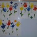 Коллективная работа по изодеятельности «Цветочная поляна» в первой младшей группе (мастер-класс)