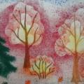 «Осенний лес». Детский МК в технике «набрызг»