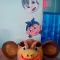 Маска из поролона «Обезьяна» и «Мышка»