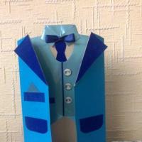 Мастер-класс «Открытка-пиджак»