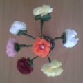 Мастер-класс по изготовлению цветов из цветных салфеток «Цветы в вазе»