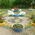 «Лебединое озеро». Оформление детской площадки