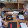 Конспект НОД по аппликации для детей средней группы «Ракета в космосе»