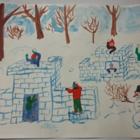 Фотозарисовка «Зимние забавы»