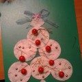 Мастер-класс: поделки из ватных дисков «Рождественские сувениры»