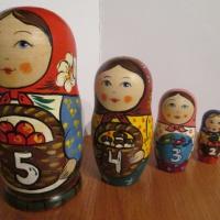 Использование авторской матрёшки для знакомства детей 3–5 лет с составом числа