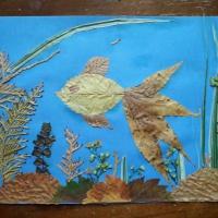 Мастер-класс аппликации из природного материала «Рыбка»