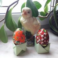 Мастер-класс «Подставка для пасхального яйца в технике оригами»