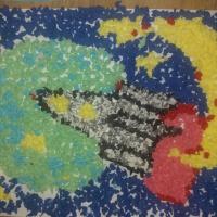 Фотоотчет о выставке творческих работ средней группы ко Дню космонавтики «Этот загадочный космос»