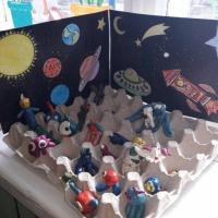 Макет «Космос, Луна и инопланетяне»