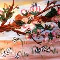 «Цветущая ветка яблони на лесной поляне». Конспект комплексного занятия с использованием нетрадиционных техник рисования