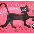 Конспект интегрированного занятия по рисованию «Жил да был чёрный кот» для детей 6–7 лет