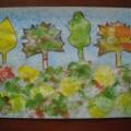 Мастер-класс: «Разноцветная осень» (нетрадиционная техника— рисование мятой бумагой, аппликация)