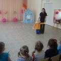 Фотоотчет о проведенном развлечении для детей младшей группы «Заюшкина избушка»