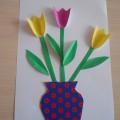 Мастер-класс «Ваза с тюльпанами»