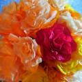 Мастер класс «Букет роз из гофрированной бумаги»